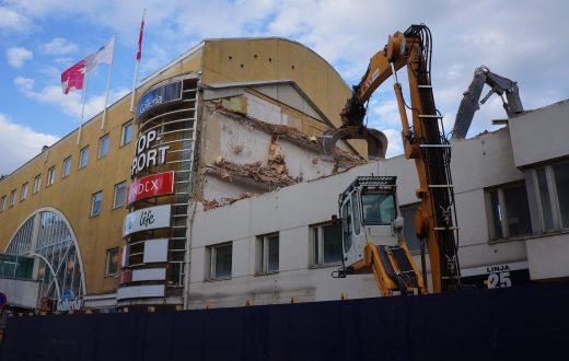 Gallerian rakennuksen purkaminen